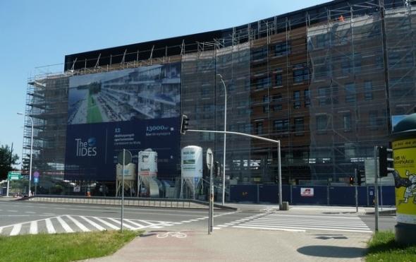 Budowa budynku biurowo hotelowego TIDES oraz biurowo szkoleniowego WTW przy ul. Wioślarskiej w Warszawie