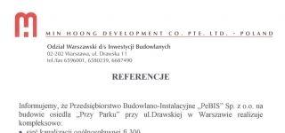 MIN HOONG DEVELOPMENT CO. PTE. LTD. - POLAND