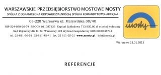 W.P.M. MOSTY Spółka z ograniczoną odpowiedzialnością Spółka komandytowo-akcyjna.