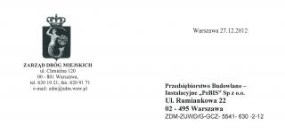 Zarząd Dróg Miejskich in Warsaw